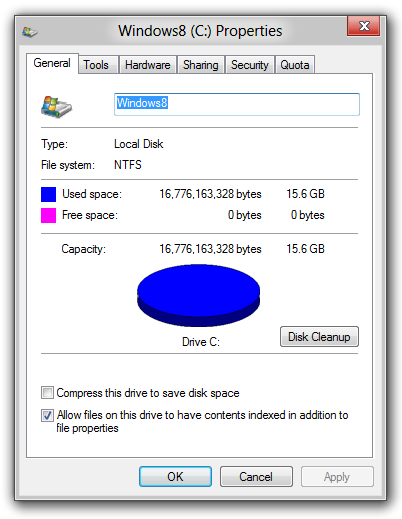 No More Space, Source: https://blog.superuser.com/2012/02/17/wtfriday-what-happens-when-windows-runs-out-of-disk-space/
